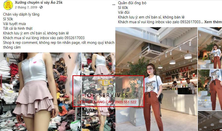 Xưởng chuyên sỉ váy áo 25k Chợ Hạnh Thông Tây. (ảnh: Top Dịch Vụ)